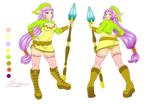 Character Design: Mirna the Elf girl