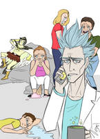 Draw the squad meme: Rick and Morty by certibbs