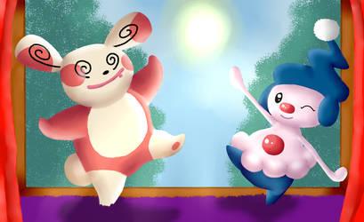 A dancing Duo by ShedragonArtist