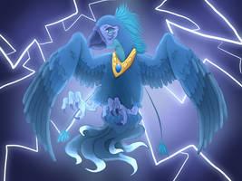 Blue winged Phoenix by ShedragonArtist