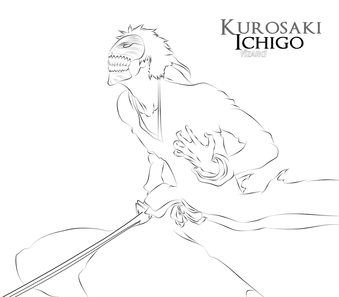 Bleach Mask Coloring Coloring Pages