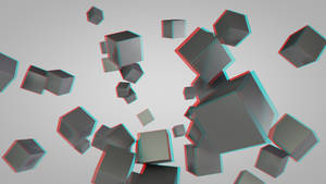 Anaglyph 3D Cubes Test01 by Pieter12