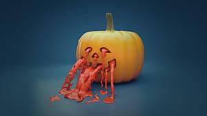 Pumpkin + RealFlow by Pieter12