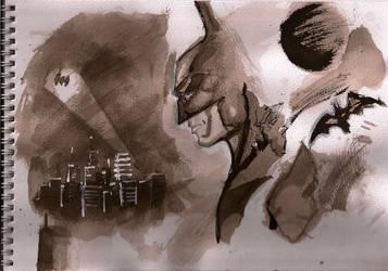 Inkwash Batman sketches