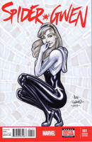 Spider-Gwen Sketch Cover by MetaWorks