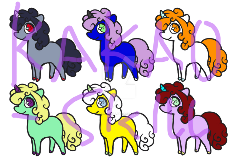 Reduced Price Cheap Unicorn Adopables 5 6 Open By Kakao Skill On Deviantart