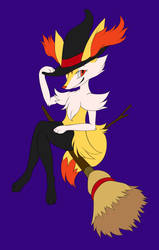 Witch Braixen (Unfinished) by snuddi