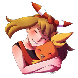 Torchic Hug by snuddi