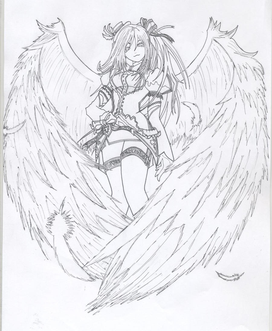 Line Art Angel : Coordinator angel lineart by andrex on deviantart