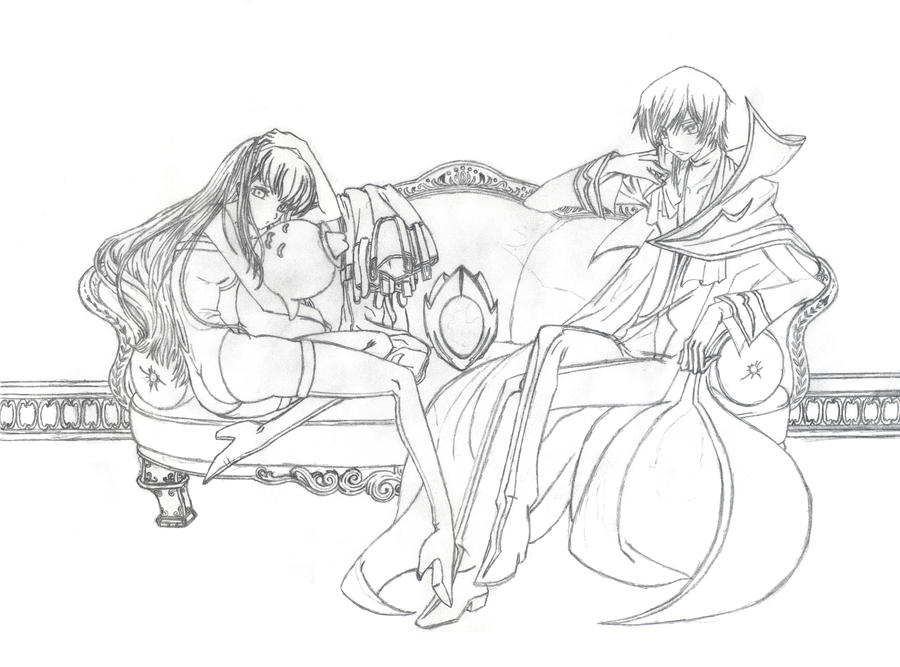 Lelouch and C.C. - Pencil by Andrex91