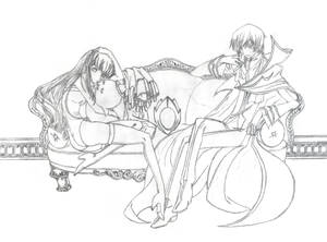 Lelouch and C.C. - Pencil