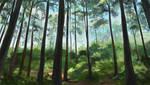 speedpaint practice: forest