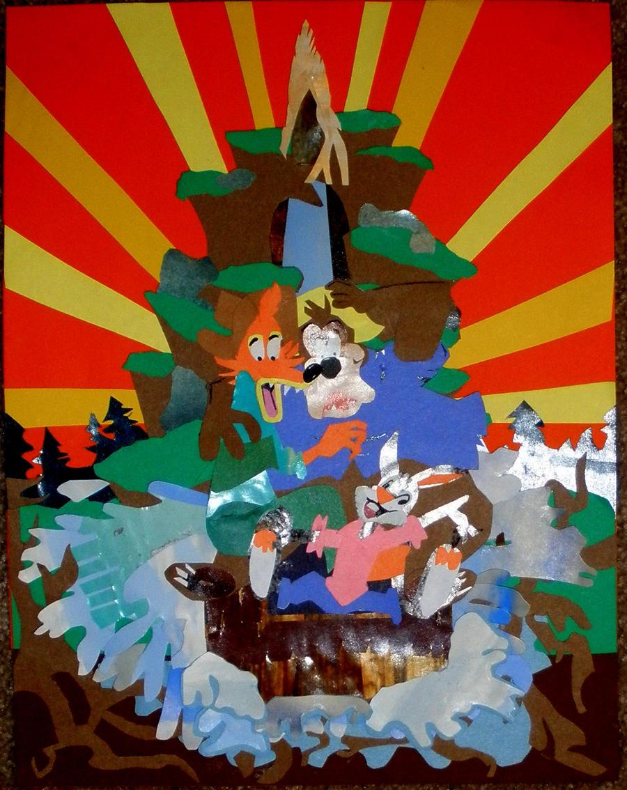 Splash mountain poster