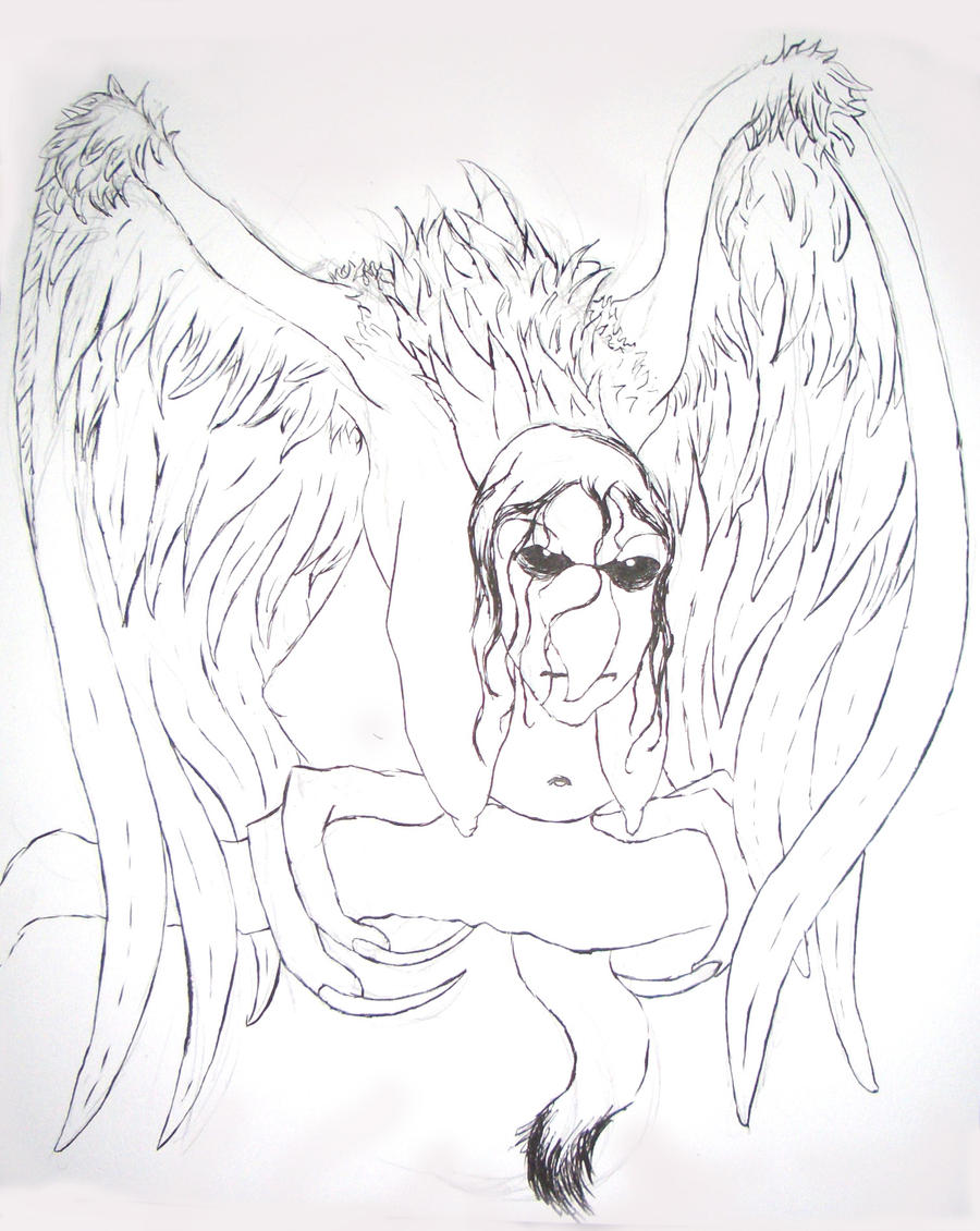 how to draw a harpy deviantart