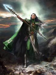 Eldar warlock by Lucy-Lisett