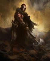 Half-Ork Barbarian