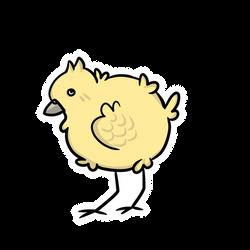 Chick! Sticker by LynxKittyArt