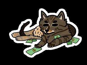 He has the money.... Sticker by LynxKittyArt