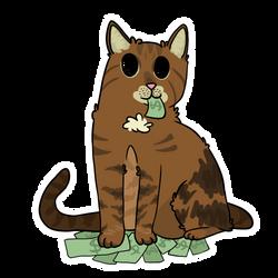 Kitty got some cash by LynxKittyArt