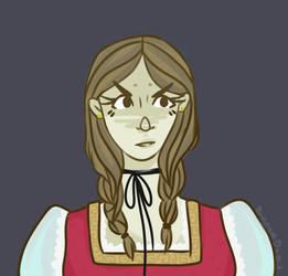 Girl with ribbion by LynxKittyArt