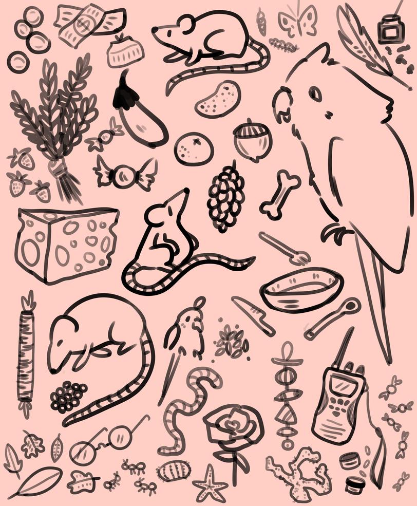 Sketch page by LynxKittyArt