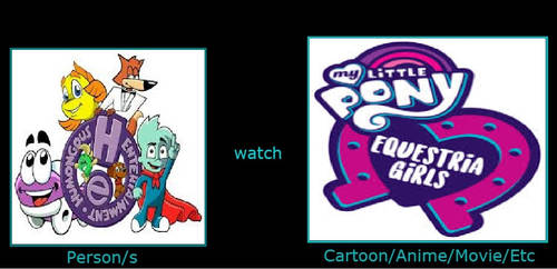 Humongous Entertainment characters watches MLP EG by aldwinpanny10