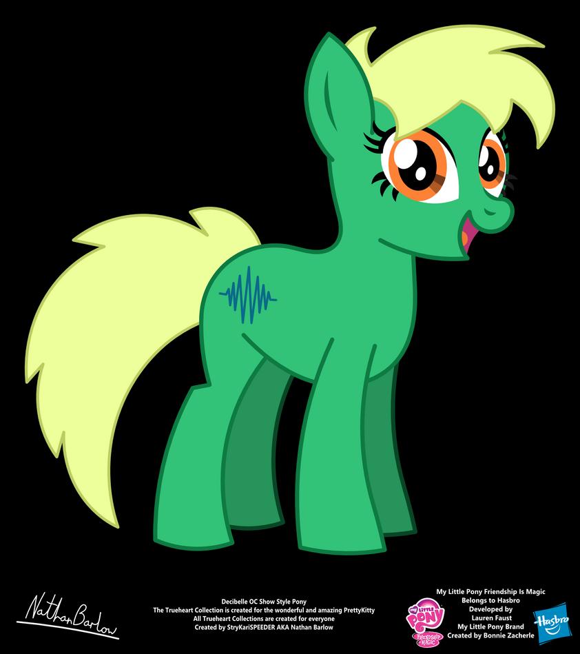 Decibelle OC Show Style Pony by StryKariSPEEDER