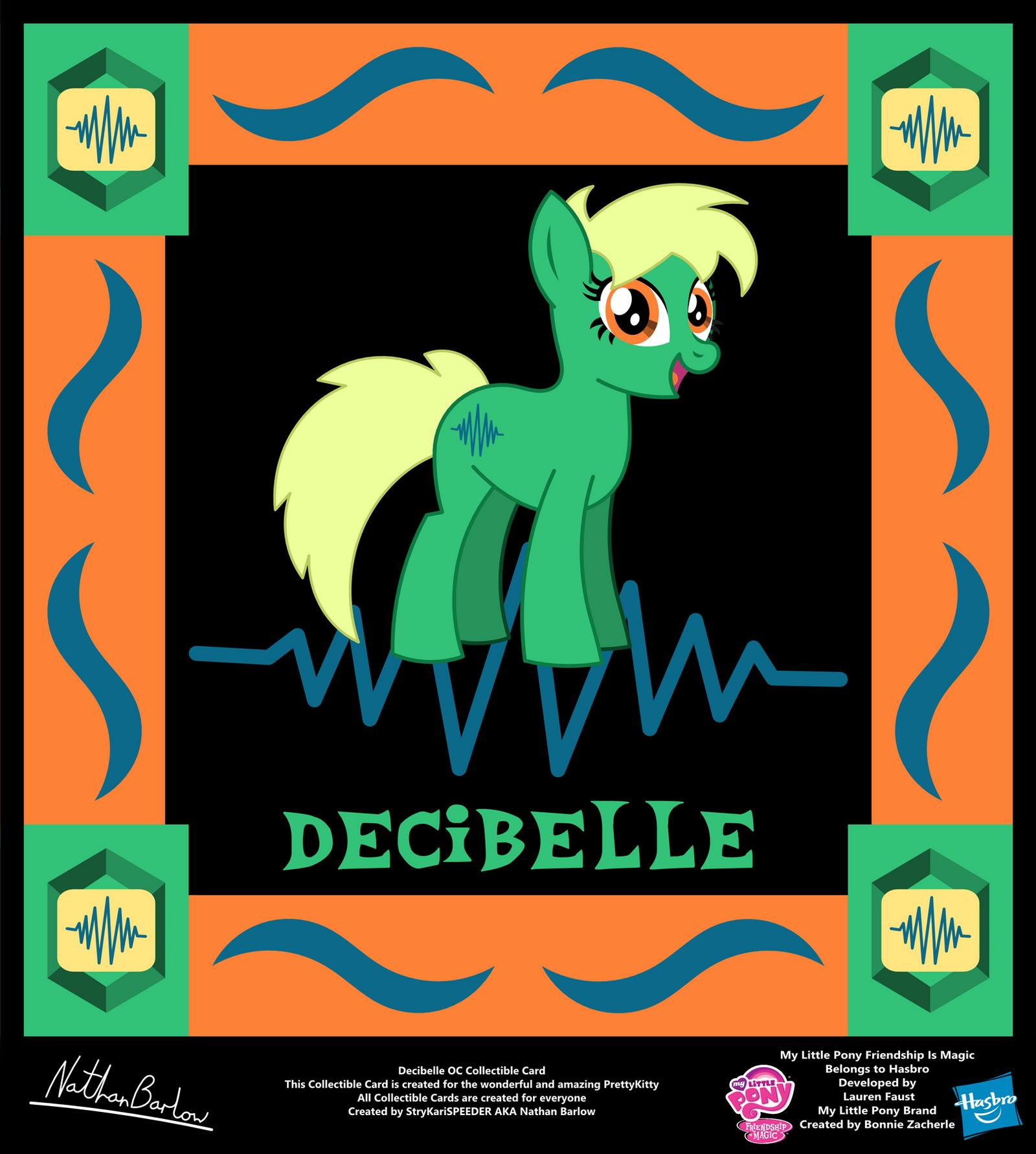 Decibelle OC Collectible Card by StryKariSPEEDER