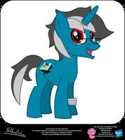 Ebony Inkstone OC Show Style Pony by StryKariSPEEDER
