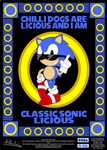 Classic Sonic Licious Poster