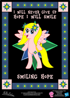 Smiling Hope OC Poster by StryKariSPEEDER