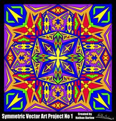 Symmetric Vector Art Project No 1