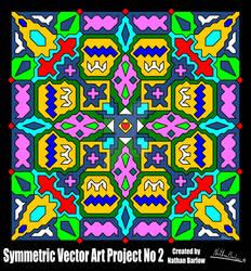 Symmetric Vector Art Project No 2