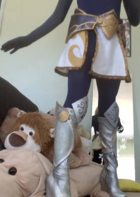 Lux skirt, hip armor, and boots: Test Run!