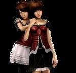Mayu and Mio render