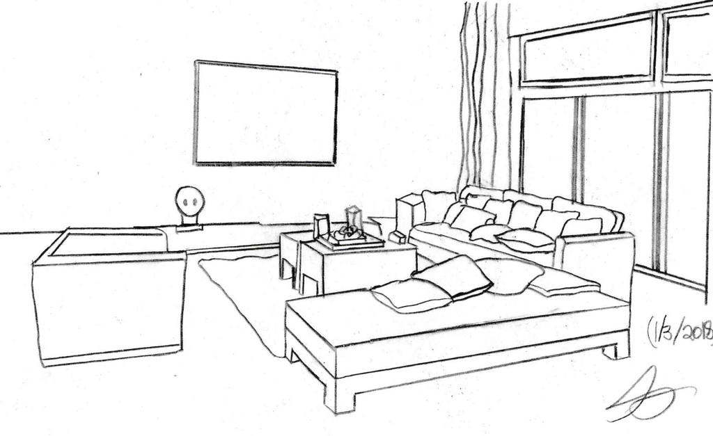 two point perspective living room huntress 16 huntress deviantart 19847