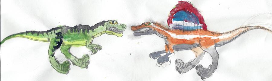 T-rex VS Spinosaurus b...