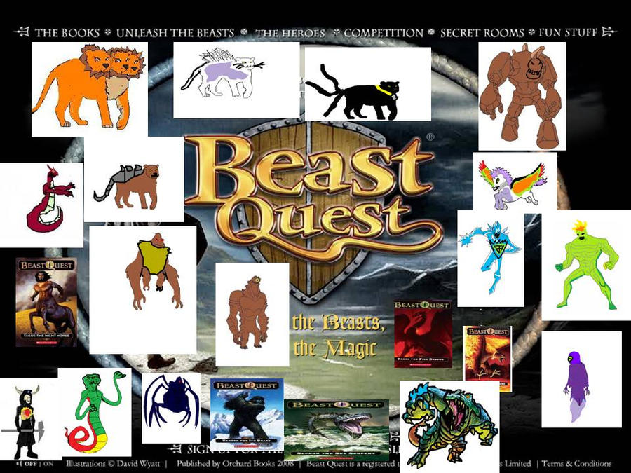 how to draw beast quest monsters