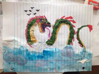 sea serpent by masonday