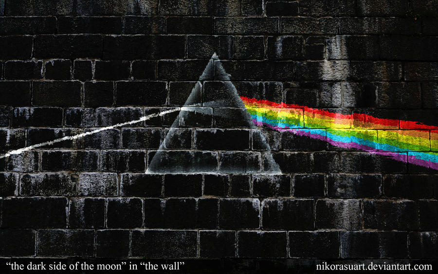 The Dark Side Of The Moon In The Wall By Nikorasuart On