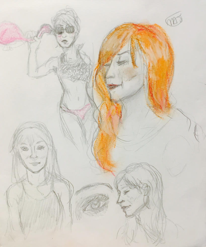 Sketch- Rowena/Ruth Connell by Majoh801