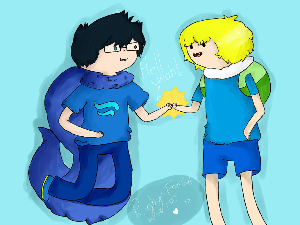 AdventureStuck with Finn and John by Rigby-FanGirl