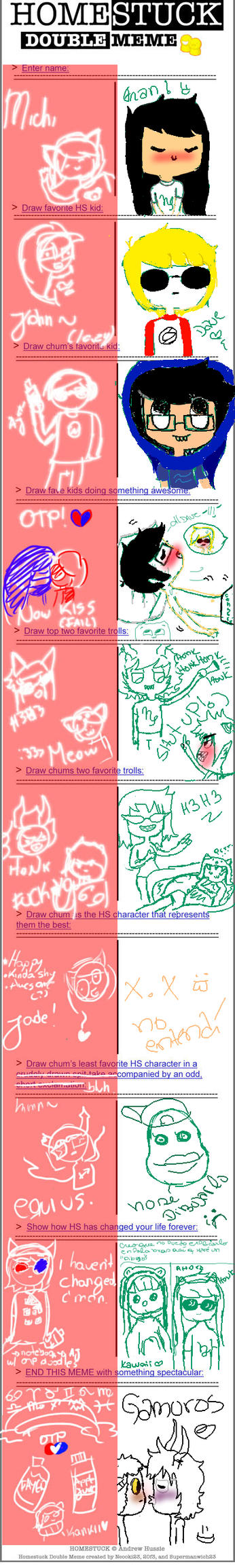 Homestuck double Meme by Rigby-FanGirl