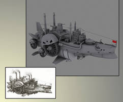 Steampunk Ship by SergeantCool