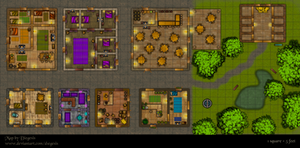 Rpg Map | Part of A Small Town