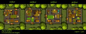 Tower Battlemap 2 | Gridless