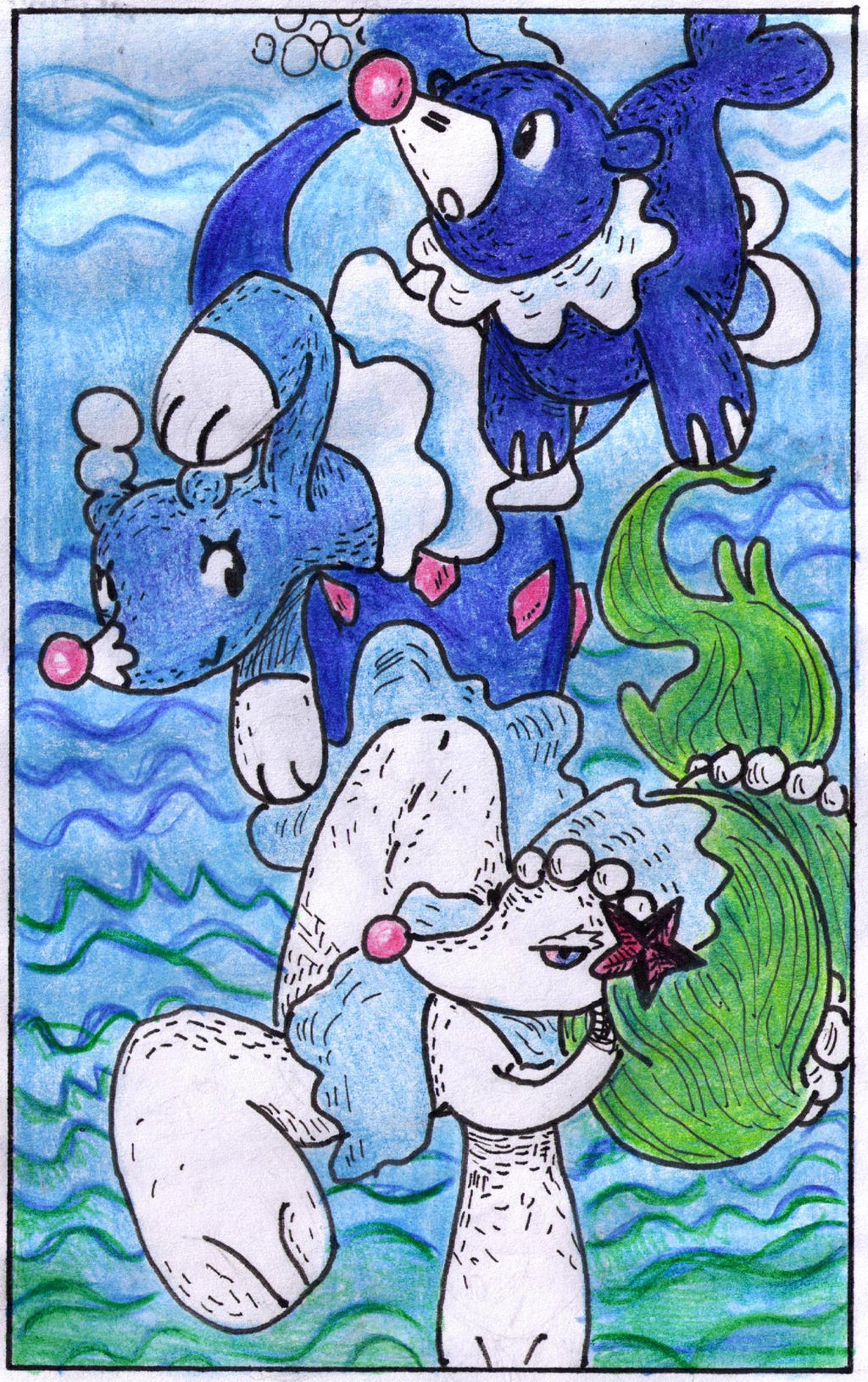 Popplio and Evolutions by Antaie