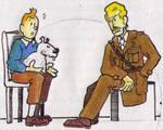 Tintin and Captain Blake