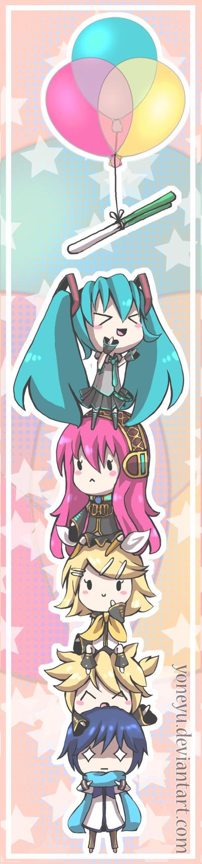 .:Vocaloid Bookmark:. by yoneyu