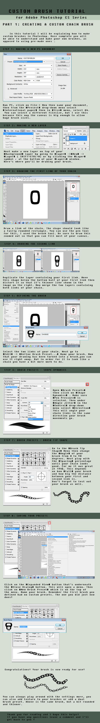 .:CUSTOM BRUSH TUTORIAL - CHAINS:. by yoneyu